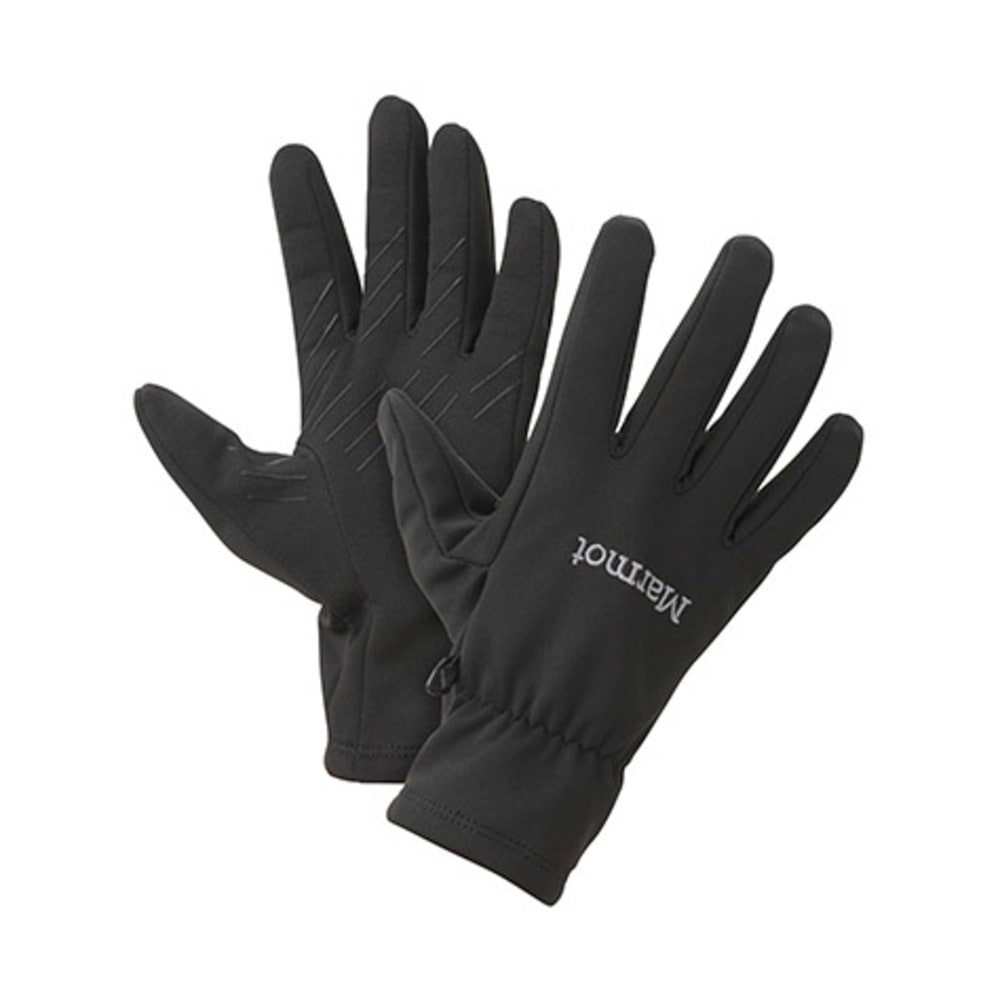 MARMOT Men's Connect Soft Shell Gloves - BLACK