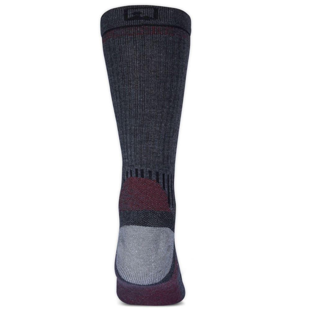EMS Men's Fast Mountain Lightweight Merino Wool Crew Socks, Charcoal - CHARCOAL