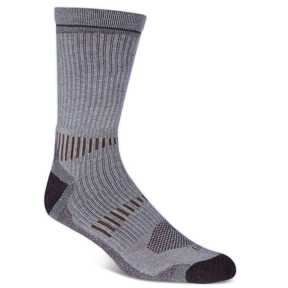 Ems(R) Men's Fast Mountain Lightweight Merino Wool Crew Socks, Khaki  - Brown, L