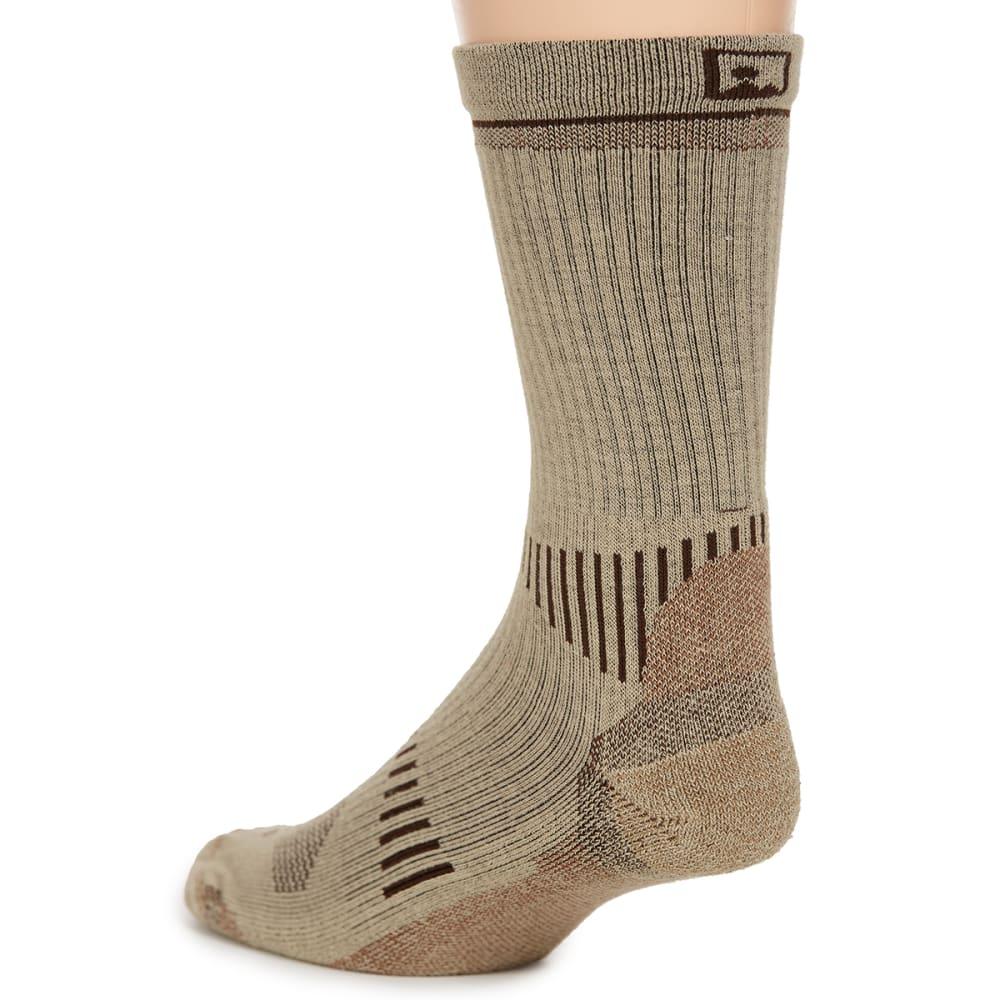 EMS® Men's Fast Mountain Lightweight Coolmax Crew Socks, Khaki - KHAKI