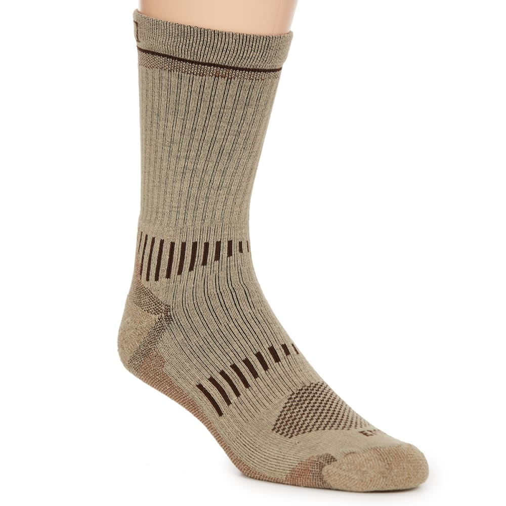 Ems(R) Men's Fast Mountain Lightweight Coolmax Crew Socks, Khaki - Brown, L