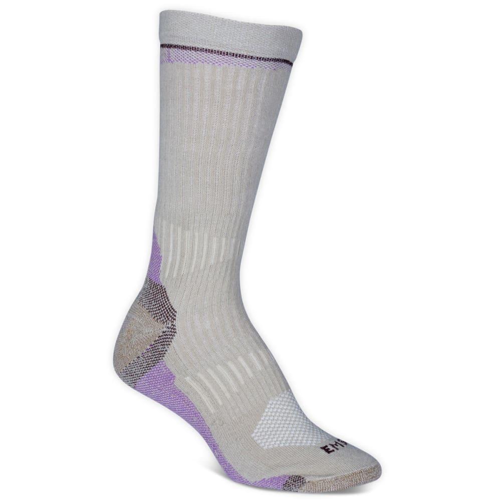 EMS® Women's Fast Mountain Lightweight Coolmax Crew Socks, Khaki - KHAKI