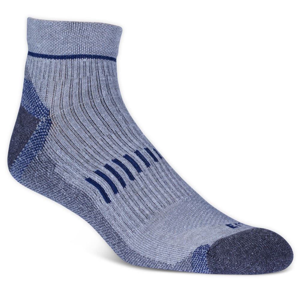 EMS Men's Fast Mountain Lightweight Wool Quarter Socks, Grey - GREY
