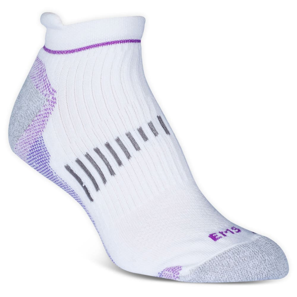 EMS Women's Fast Mountain Lightweight Coolmax Ankle Socks, White - WHITE