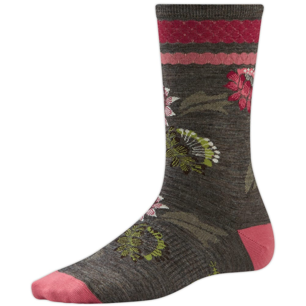 SMARTWOOL Women's Blossom Bitty Socks, Ash Heather - TAUPE HEATHER