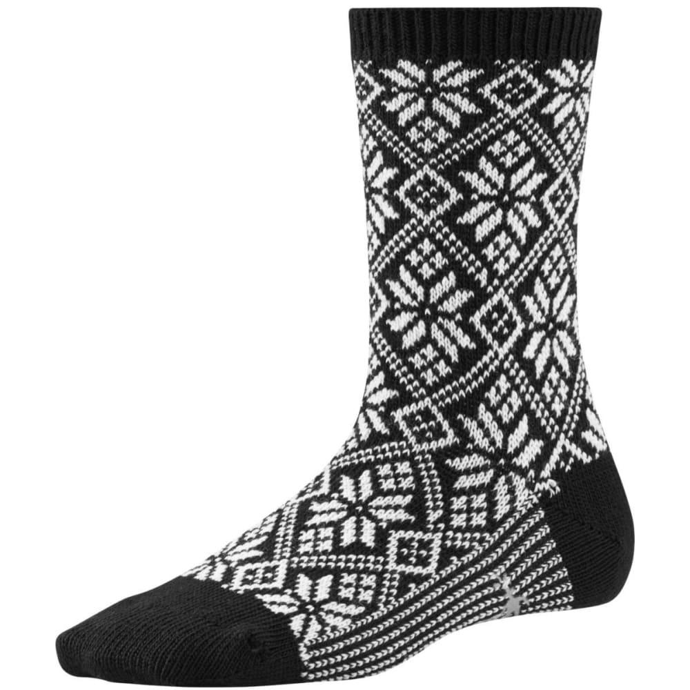 SMARTWOOL Women's Traditional Snowflake Socks - BLACK