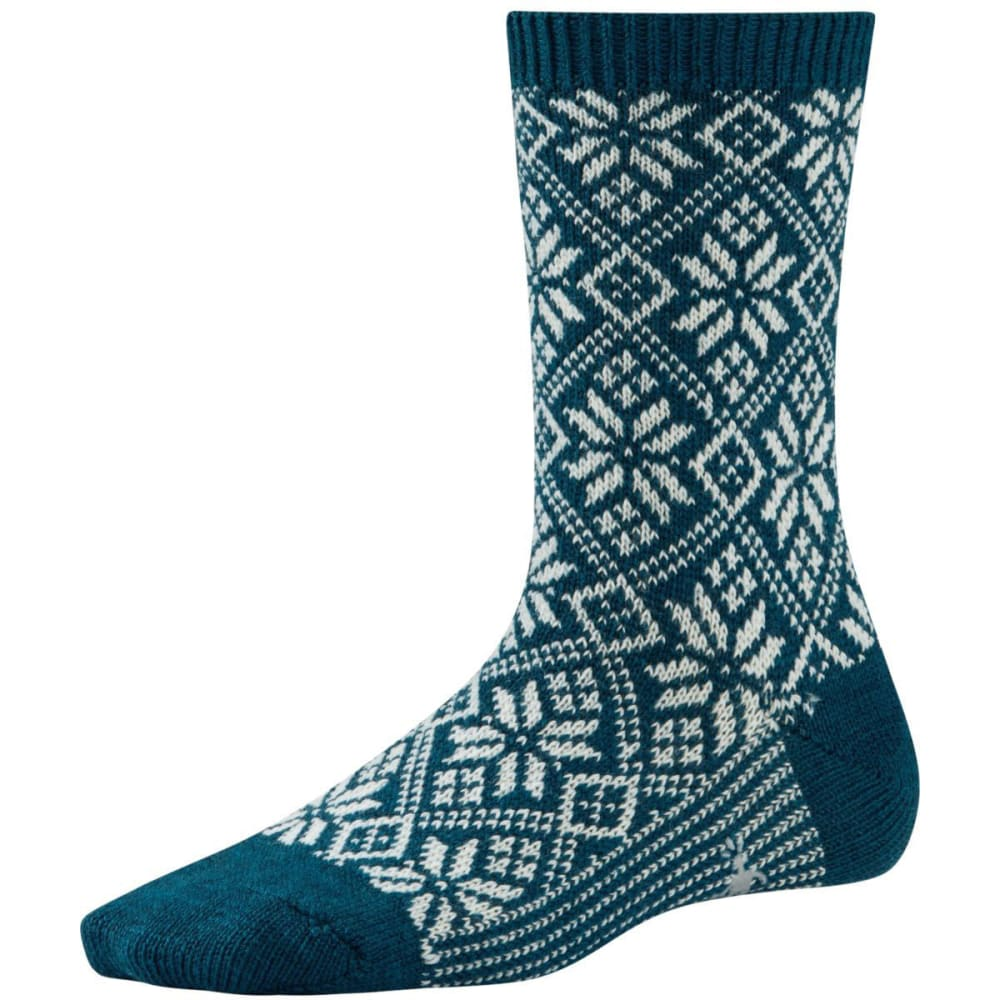 SMARTWOOL Women's Traditional Snowflake Socks - BLUE STEEL