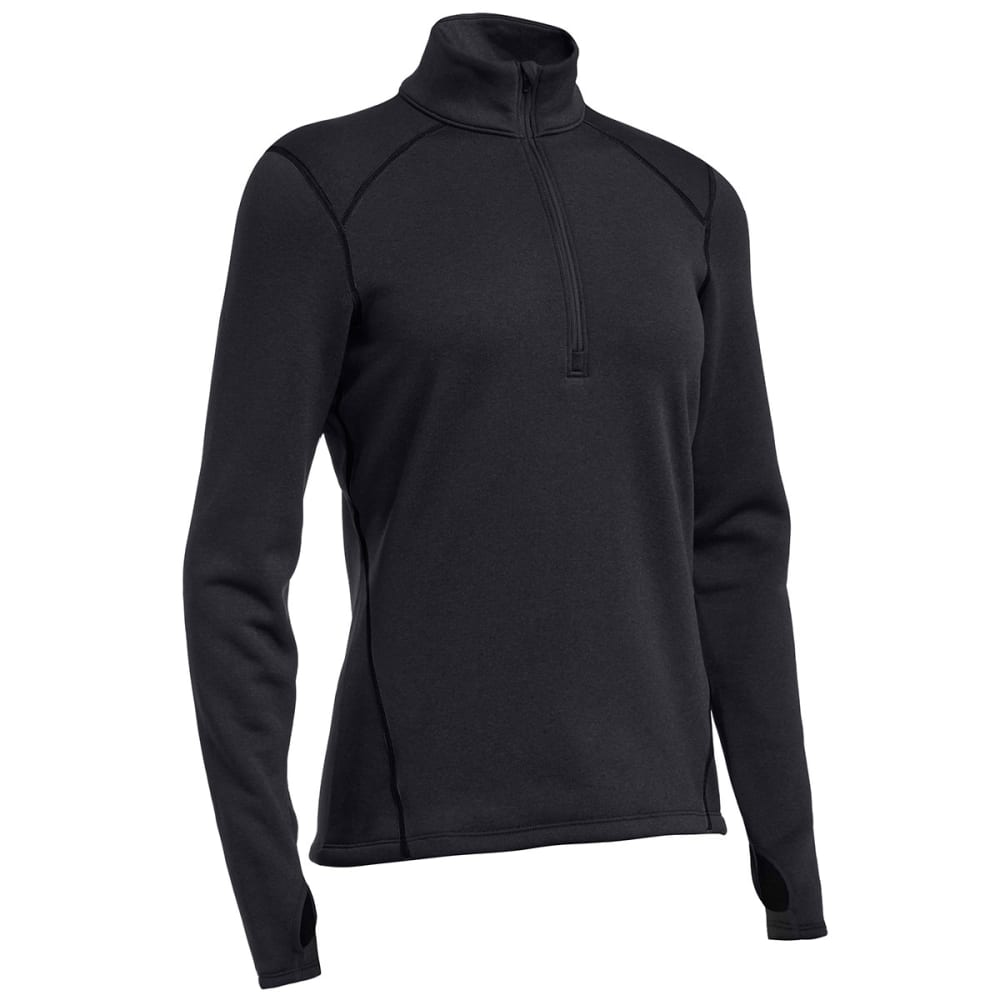 EMS® Women's Techwick® Heavyweight ¼ Zip Baselayer - BLACK