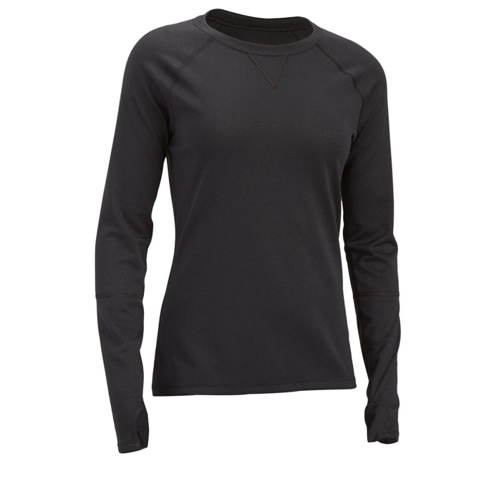 EMS® Women's Techwick® Midweight Long-Sleeve Crew Baselayer - BLACK