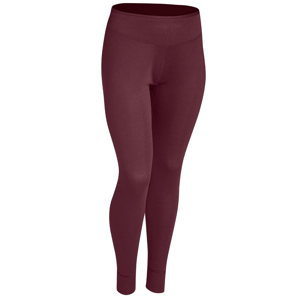 EMS Women's Techwick Midweight Baselayer Tights - WINDSOR WINE