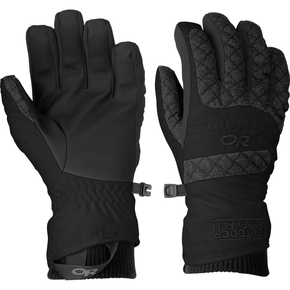 OUTDOOR RESEARCH Women's Riot Gloves - BLACK