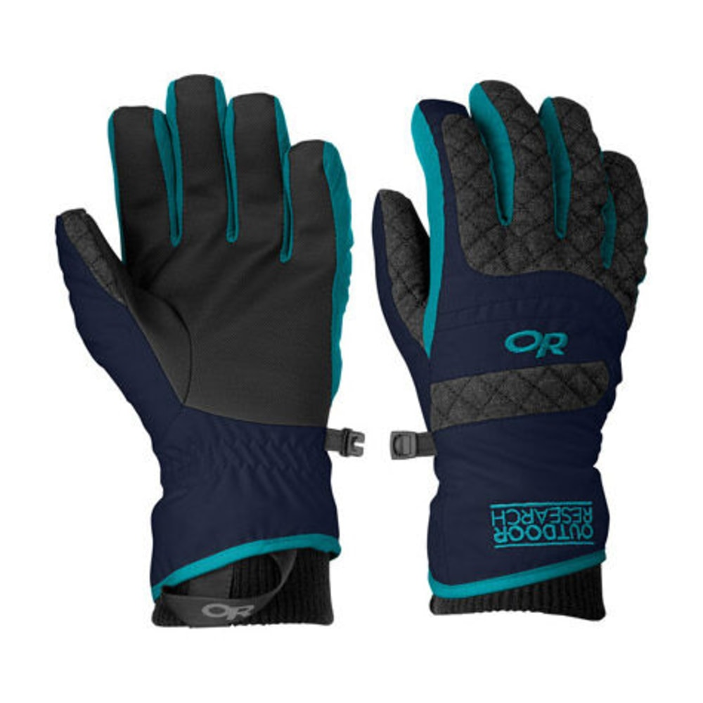OUTDOOR RESEARCH Women's Riot Gloves - NIGHT/CHARCOAL/ALPN
