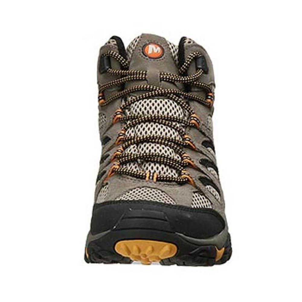 MERRELL Men's Moab Ventilator Mid Hiking Boots - WALNUT