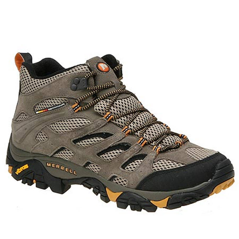 MERRELL Men's Moab Ventilator Mid Hiking Boots - WALNUT