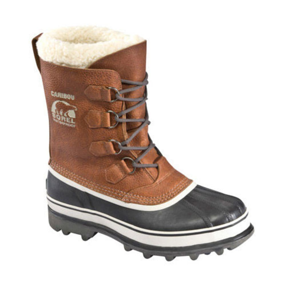 SOREL Men's Caribou Wool Winter Boots - TOBACCO-256