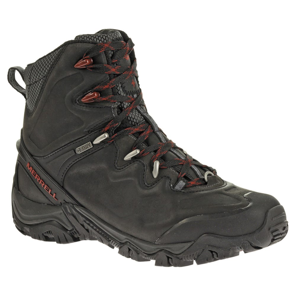 MERRELL Men's Polarand 8 Waterproof Hiking Boots, Black - BLACK