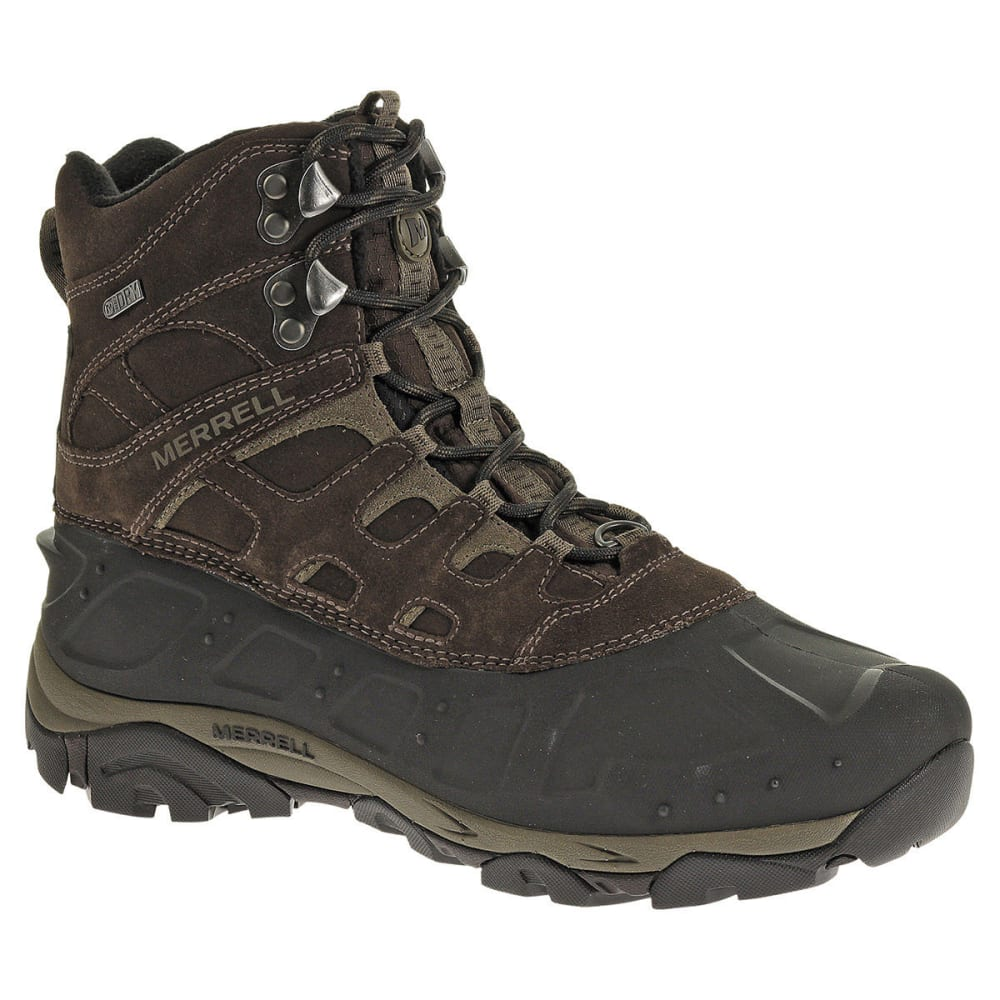 MERRELL Men's Moab Polar WP Winter Hiking Boots, Espresso - ESPRESSO