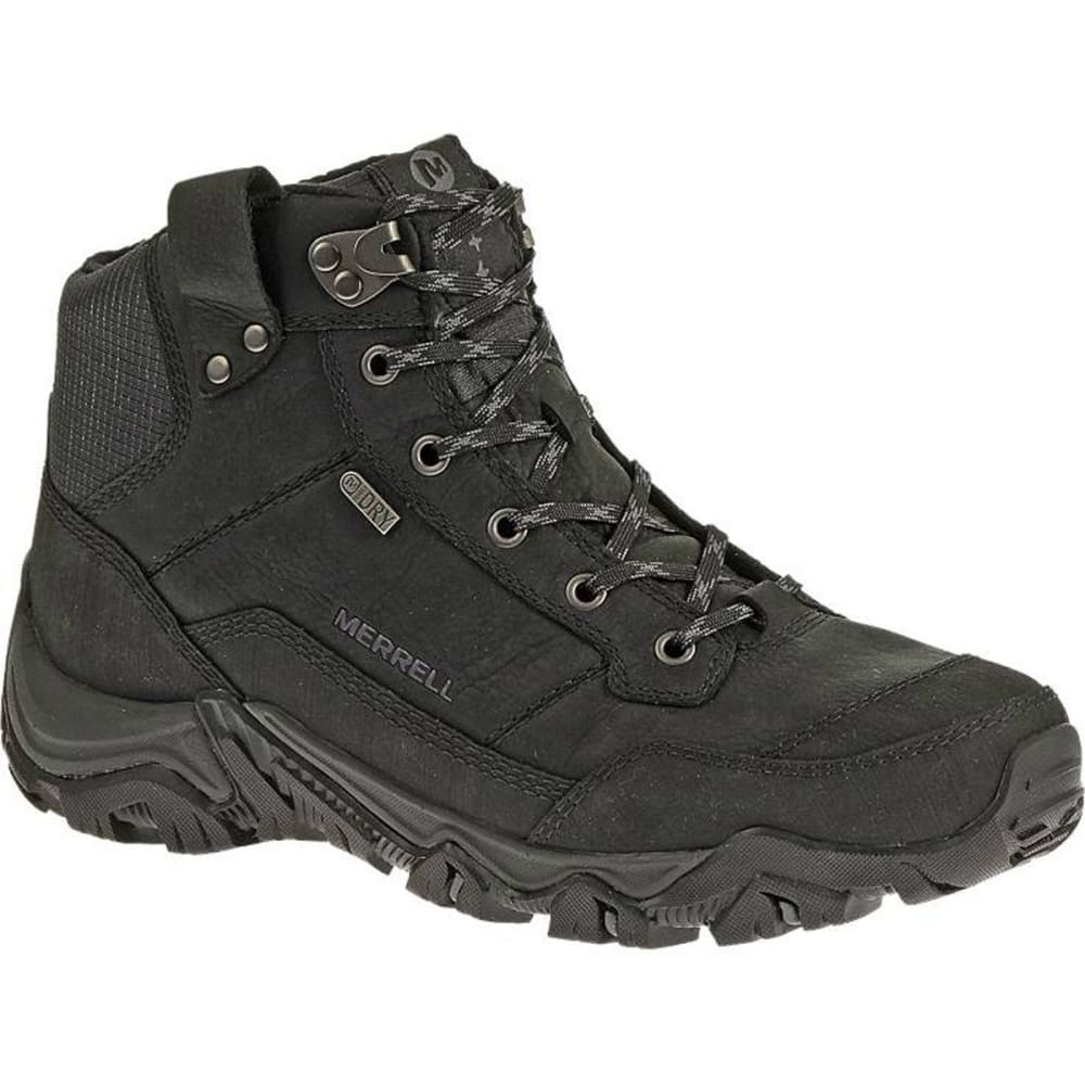 MERRELL Men's Polarand Rove Waterproof Winter Boots, Black - BLACK