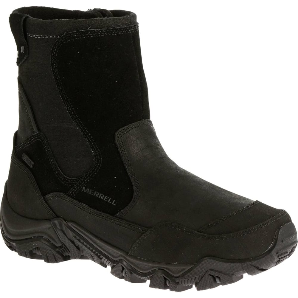 MERRELL Men's Polarand Rove Zip Waterproof Boots, Black - BLACK