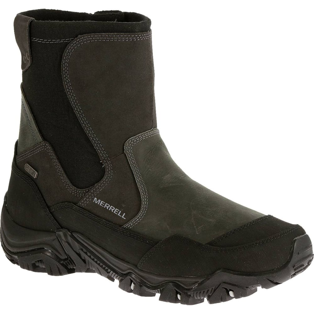 MERRELL Men's Polarand Rove Zip Waterproof Boots, Castle Rock - CASTLE ROCK