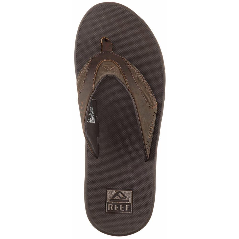 REEF Men's Fanning Leather Flip-Flops 8
