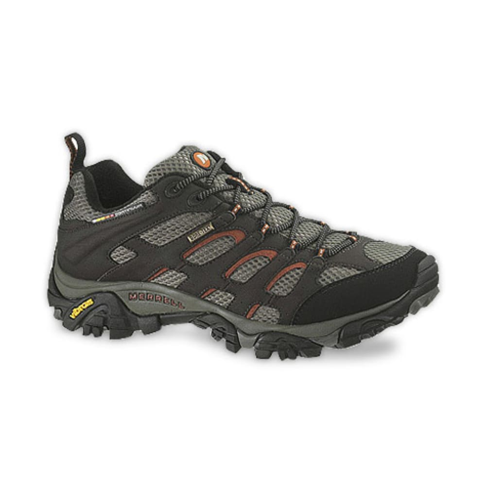 MERRELL Men's Moab GTX Hiking Shoes, Dark Chocolate - DARK CHOCOLATE