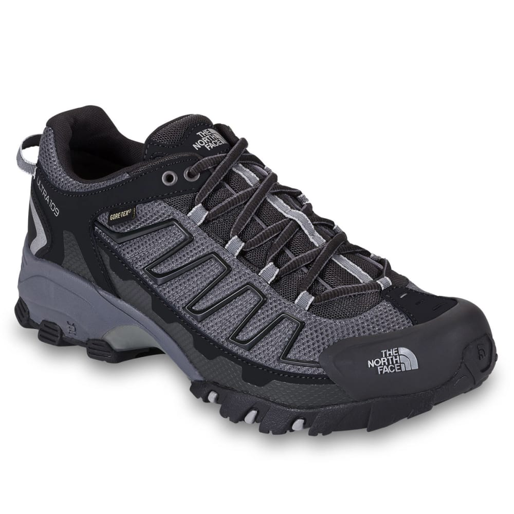 THE NORTH FACE Men's Ultra 109 GTX Trail Running Shoes, Black/Grey - BLACK/DARK SHADOW