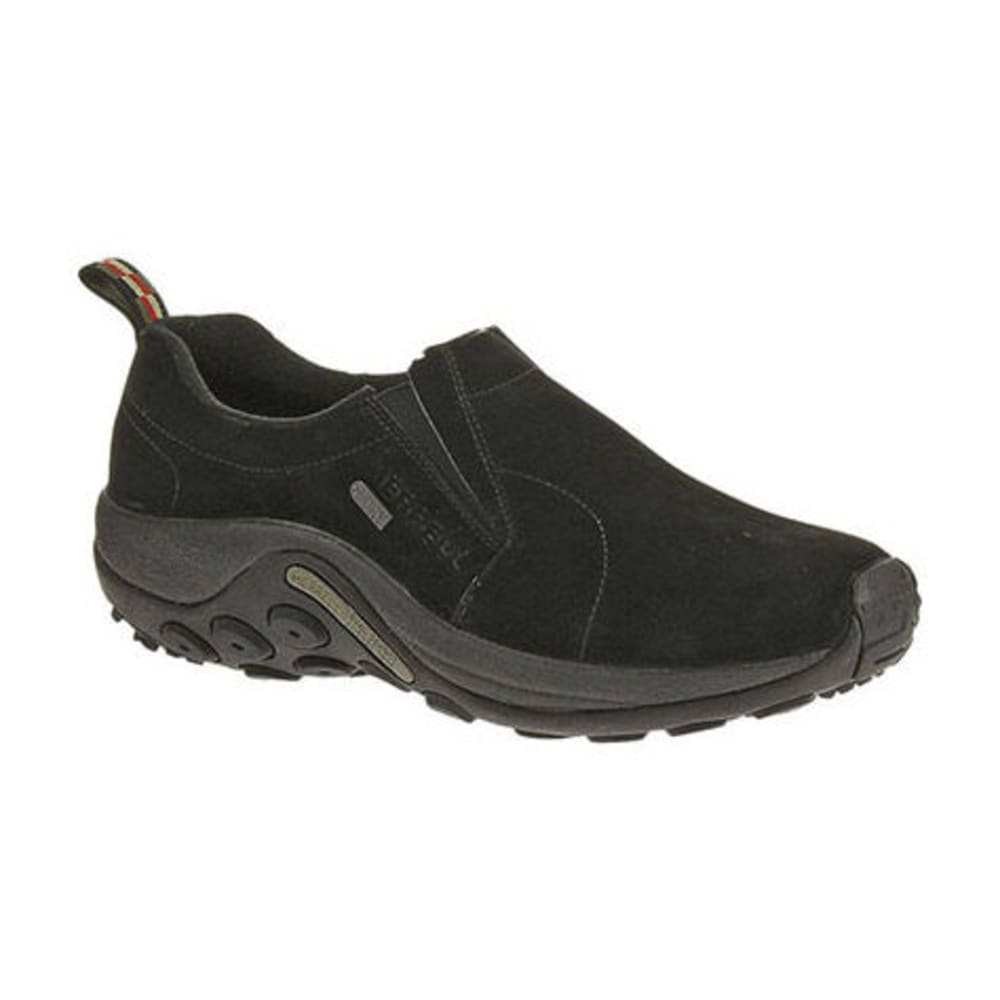 MERRELL Men's Jungle Moc Waterproof Shoes, Black - BLACK