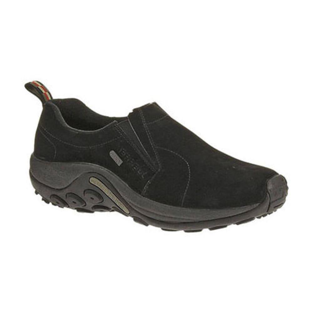MERRELL Men's Jungle Moc Waterproof Shoes, Black - BLACK
