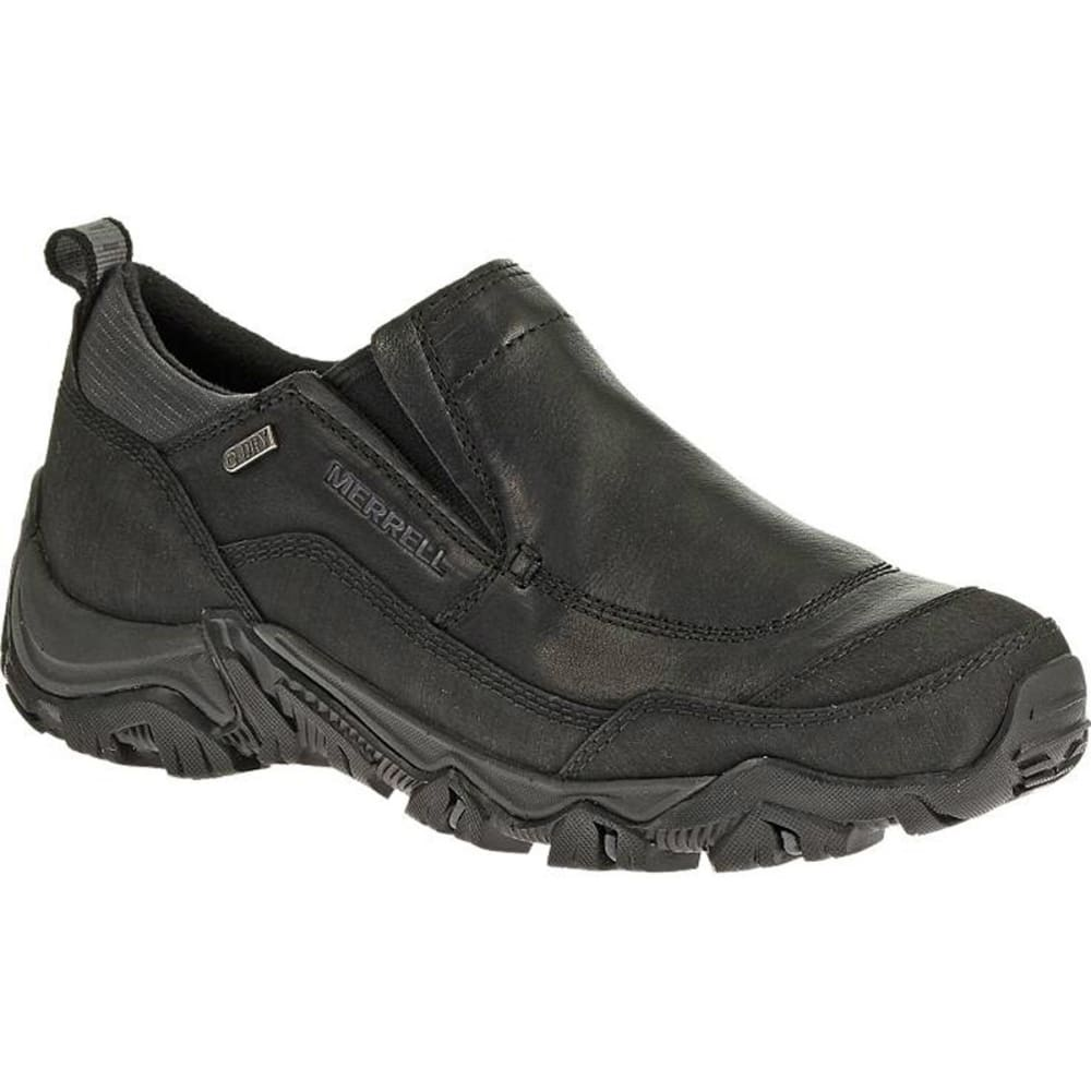 MERRELL Men's Polarand Rove Moc Waterproof Winter Shoes, Black - BLACK