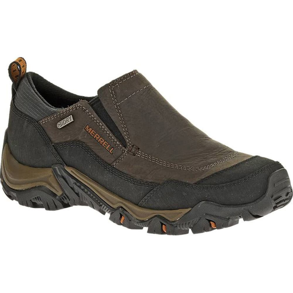 MERRELL Men's Polarand Rove Moc Waterproof Winter Shoes, Black Slate - BLACK SLATE