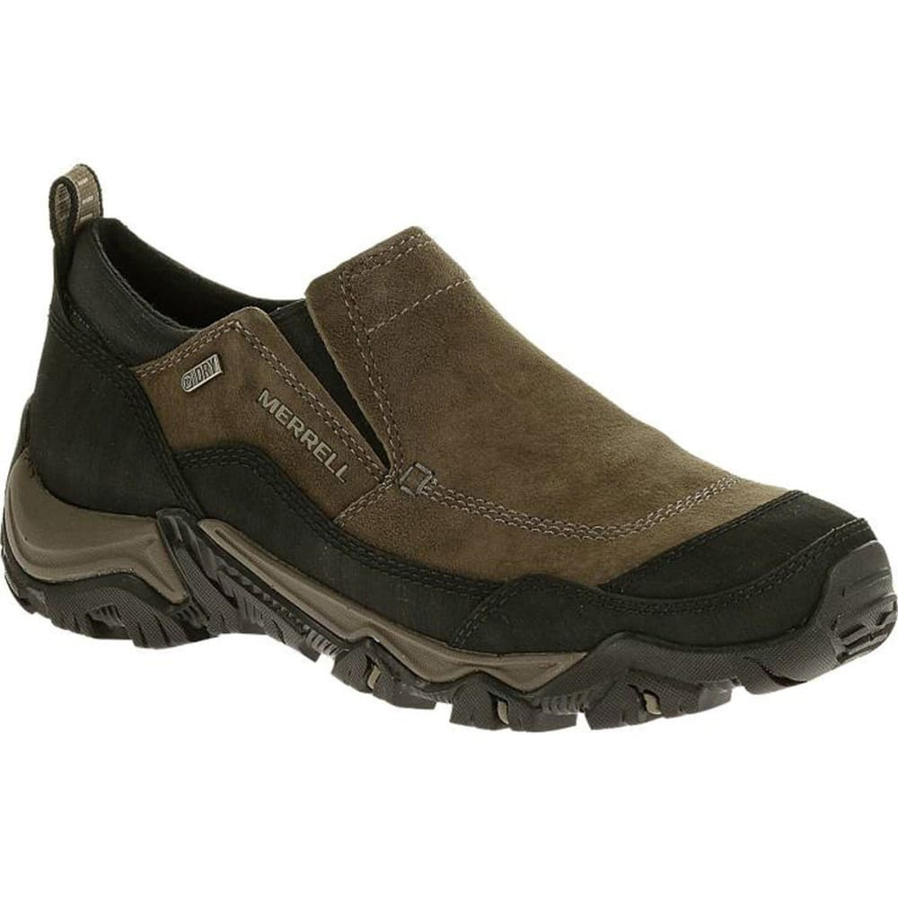 MERRELL Men's Polarand Rove Moc Waterproof Winter Shoes, Gunsmoke - GUNSMOKE