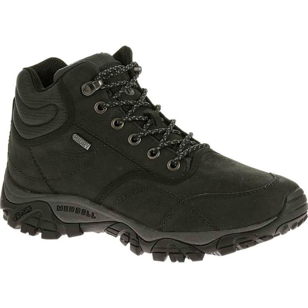 MERRELL Men's Moab Rover Mid Waterproof Boots, Black, Wide - BLACK