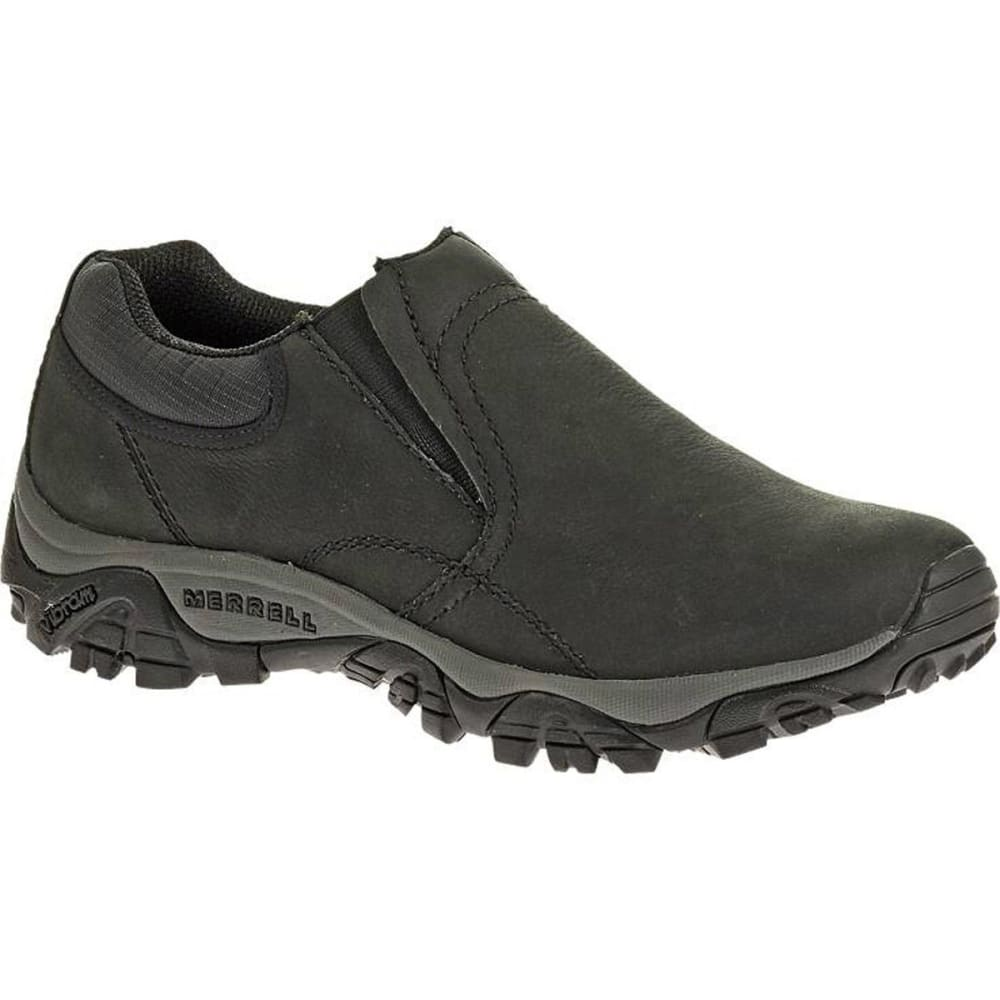 MERRELL Men's Moab Rover Moc Shoes, Black, Wide - BLACK