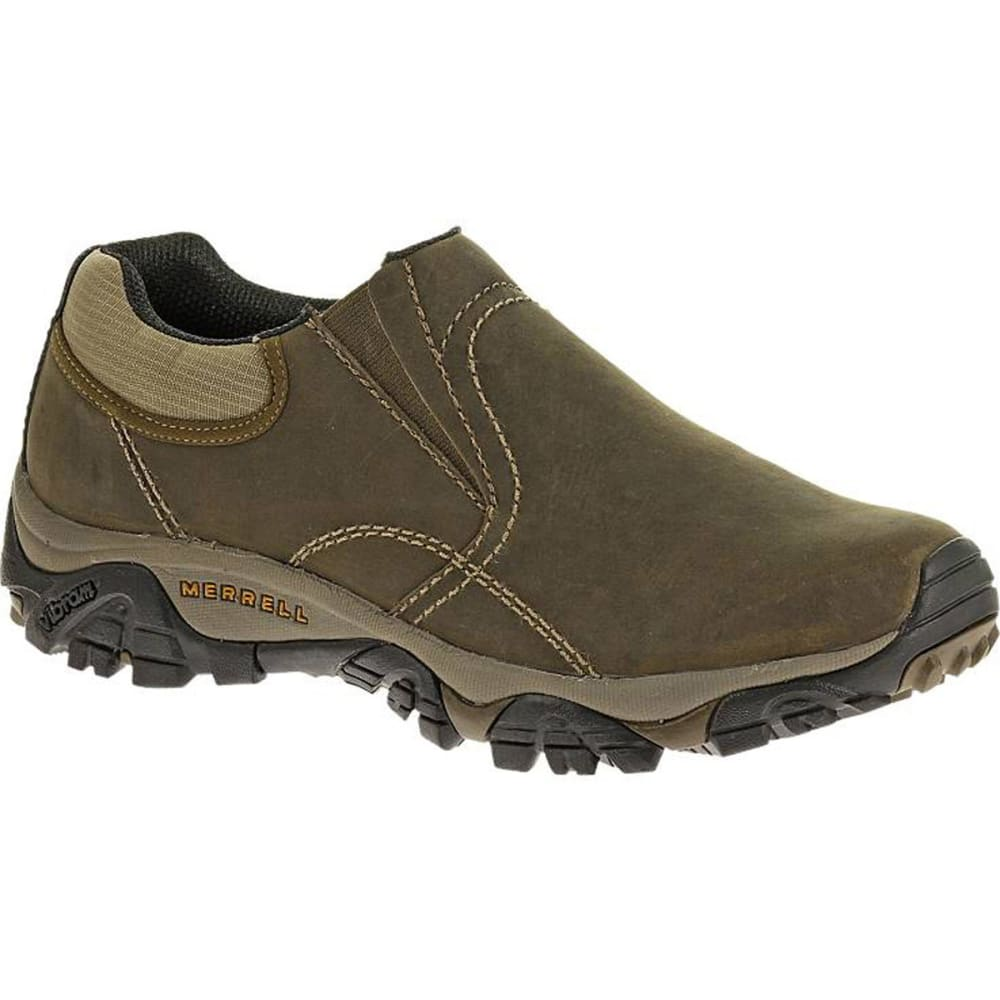 MERRELL Men's Moab Rover Moc Shoes, Kangaroo, Wide - KANGAROO
