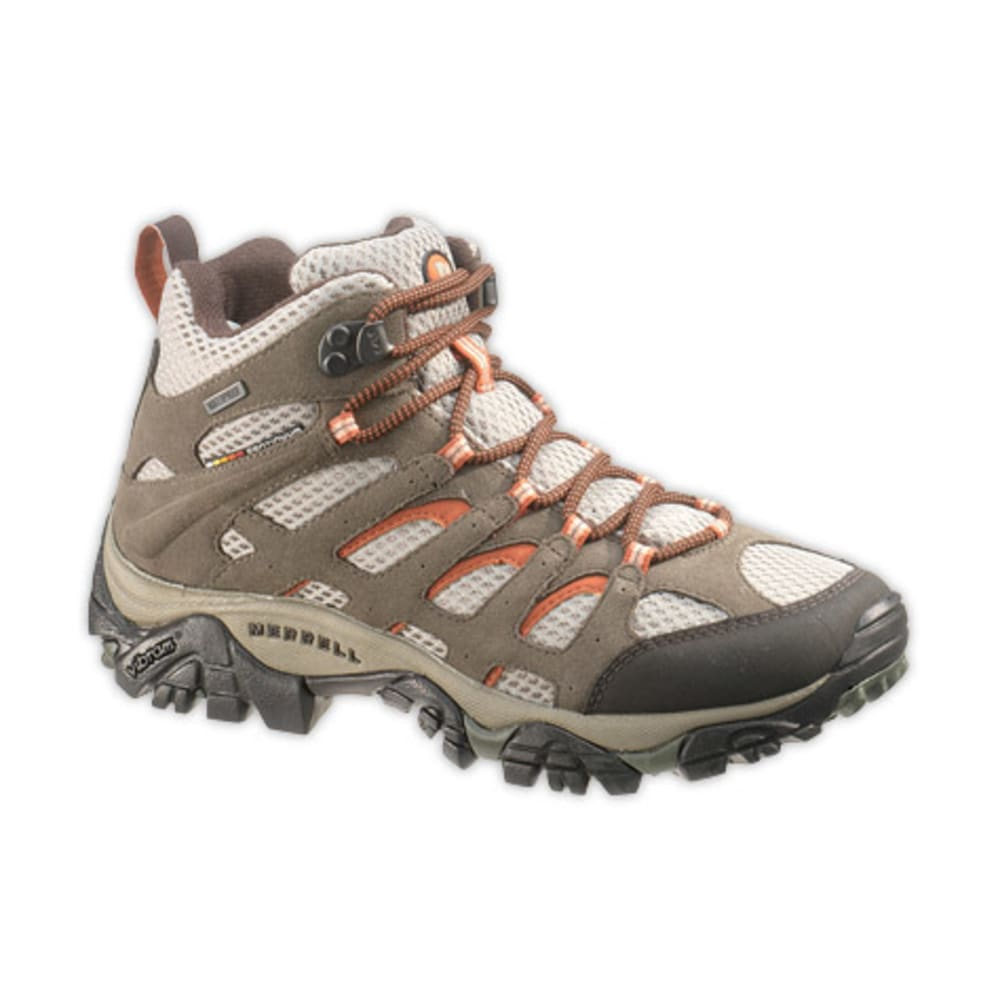 MERRELL Women's Moab Mid WP Hiking Boots, Bungee Cord - BUNGEE CORD