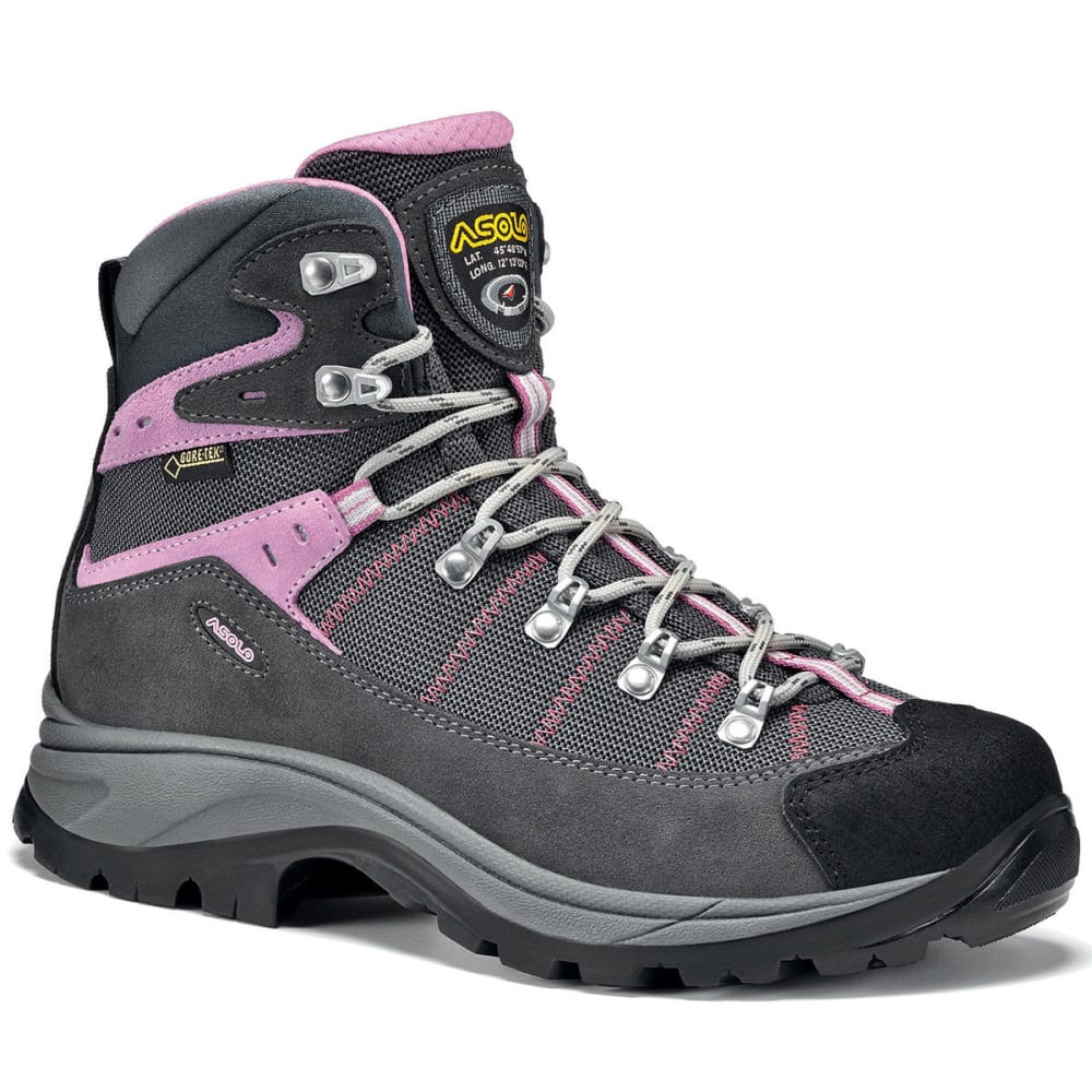 ASOLO Women's Revert GTX Hiking Boots, Grey/Gunmetal 6