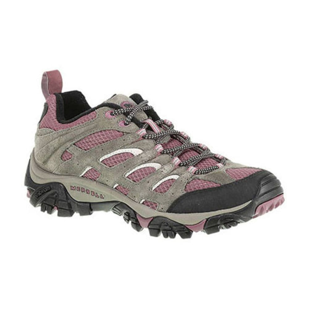 MERRELL Women's Moab Ventilator Hiking Shoes, Boulder/Blush - BOULDER