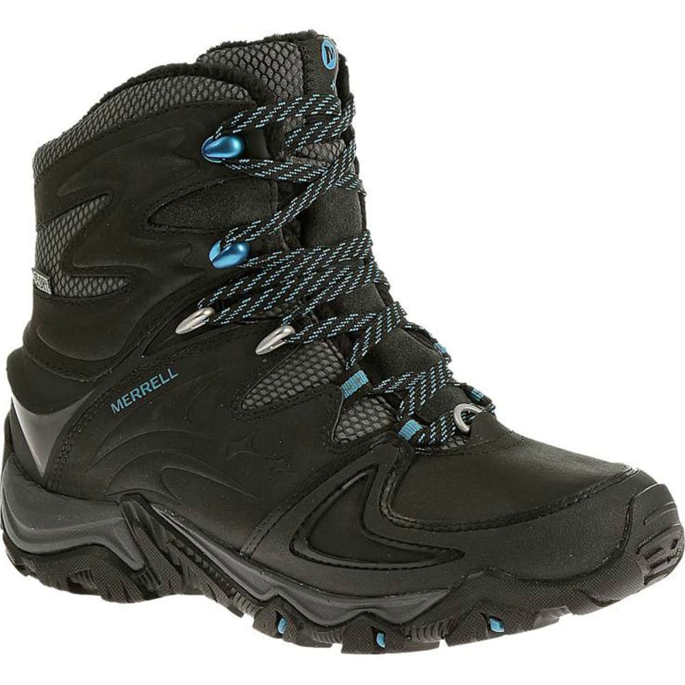 MERRELL Women's Polarand 8 Waterproof Hiking Boots, Black - BLACK
