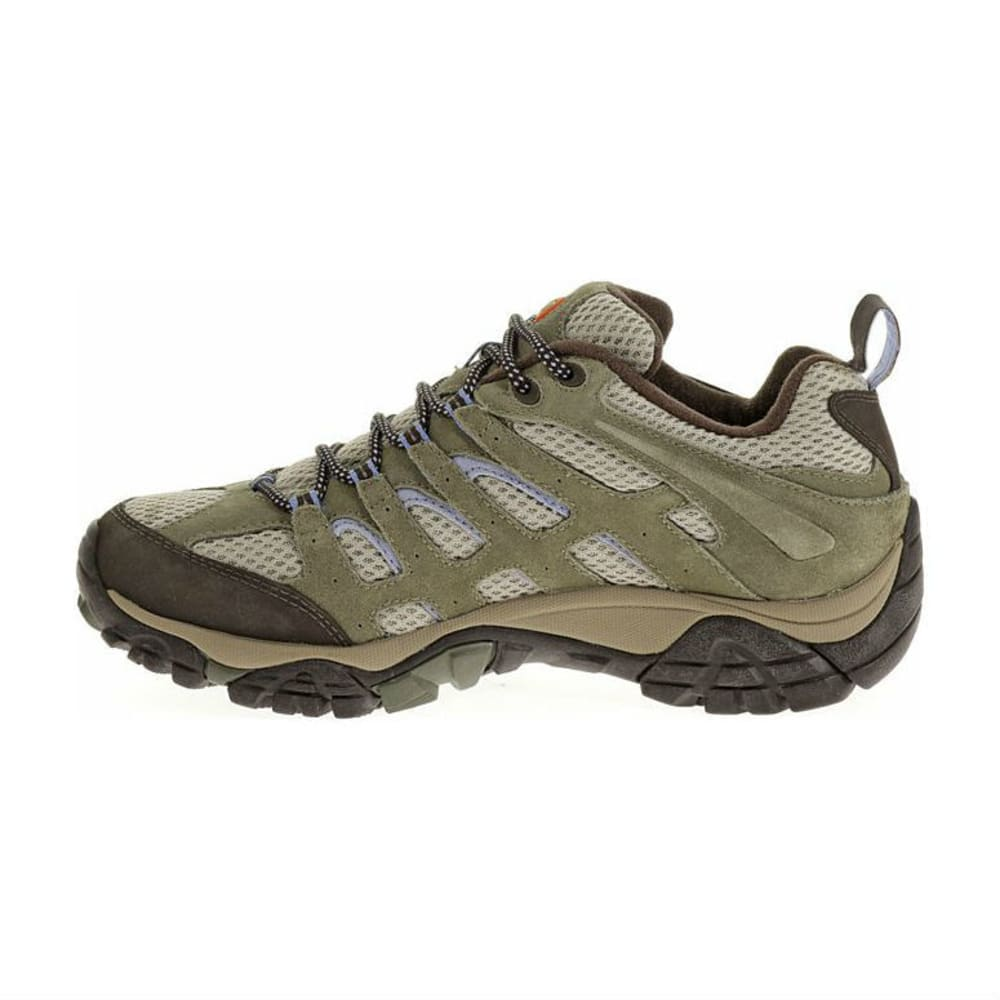 MERRELL Women's Moab WP Hiking Shoes, Dusty Olive - DUSTY OLIVE