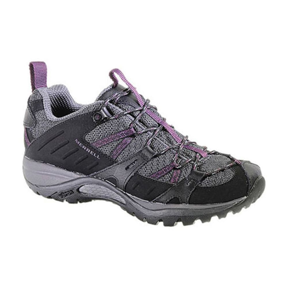 MERRELL Women's Siren Sport 2 Hiking Shoes, Black/Damson - BLACK