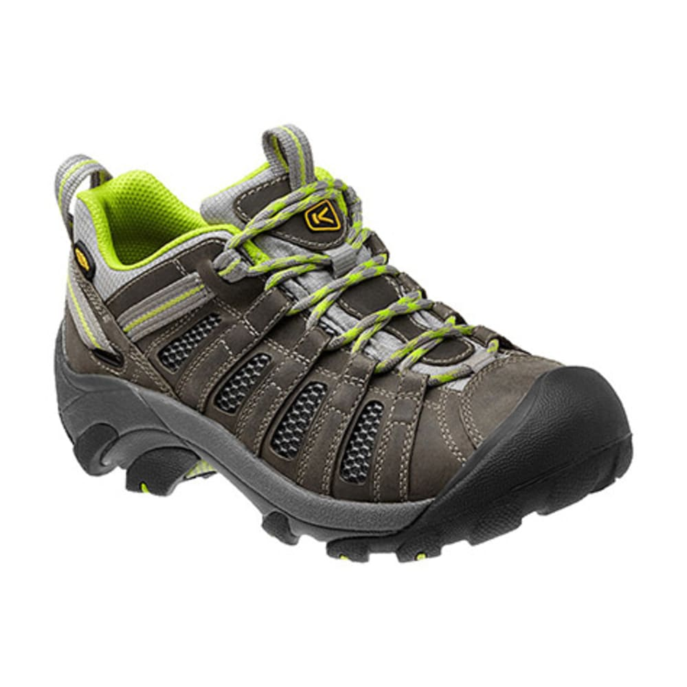 KEEN Women's Voyageur Low Hiking Shoes, Grey/Lime 7