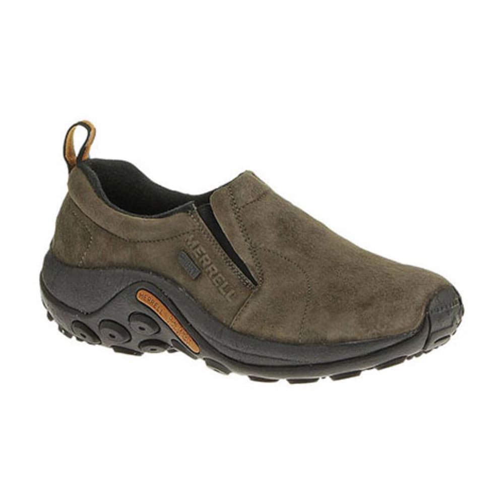 MERRELL Women's Jungle Moc Waterproof Shoes, Gunsmoke - GUNSMOKE
