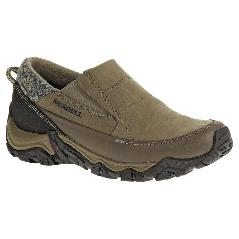 MERRELL Women's Polarand Rove Moc Waterproof Winter Shoes, Boulder - BOULDER