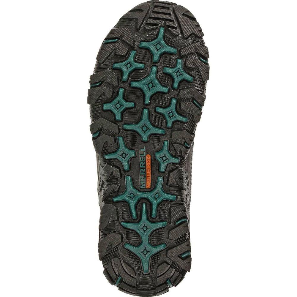 MERRELL Women's Polarand Rove Moc Waterproof Winter Shoes, Black - BLACK