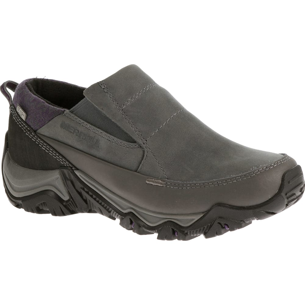 MERRELL Women's Polarand Rove Moc Waterproof Winter Shoes - GRANITE