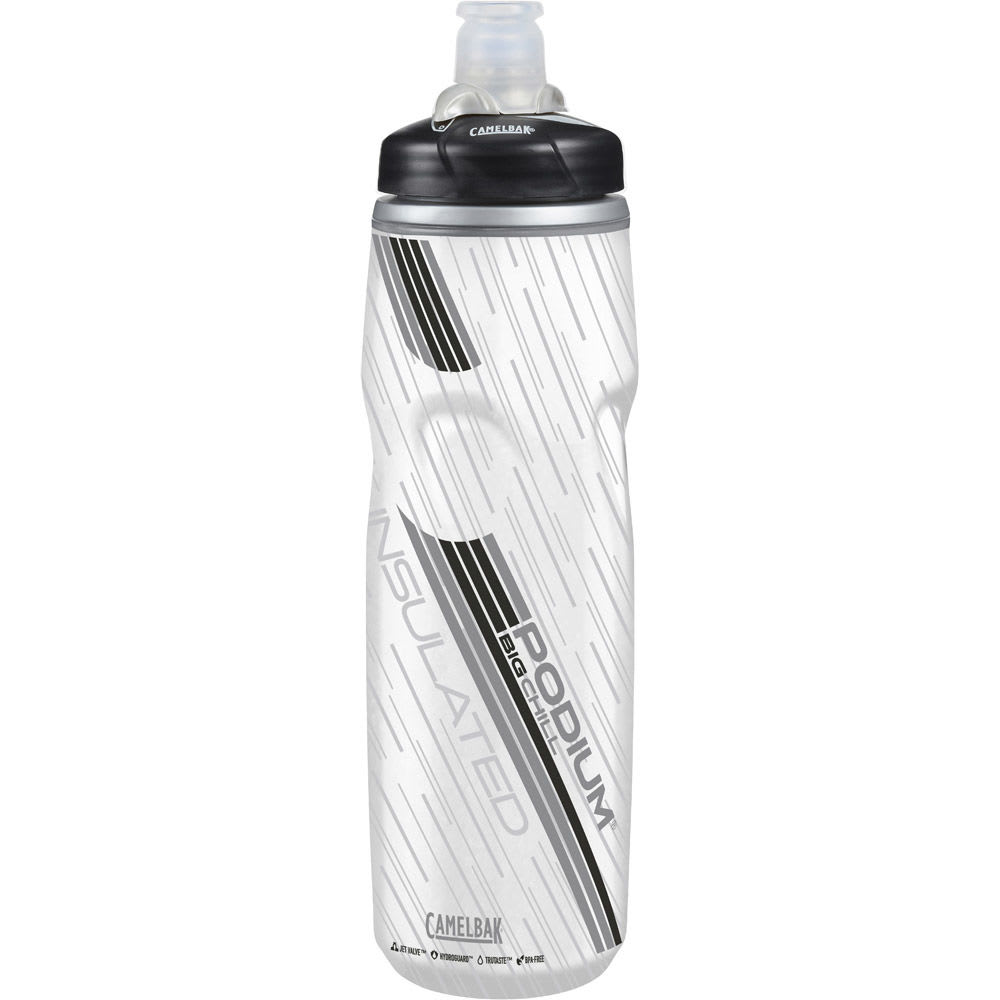 CAMELBAK Podium Big Chill Water Bottle - CLEAR/CARBON/52467