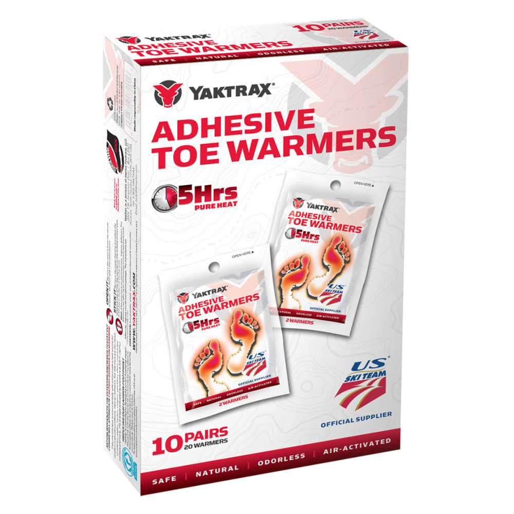 YAKTRAX Adhesive Toe Warmers, 10-Pack - NONE