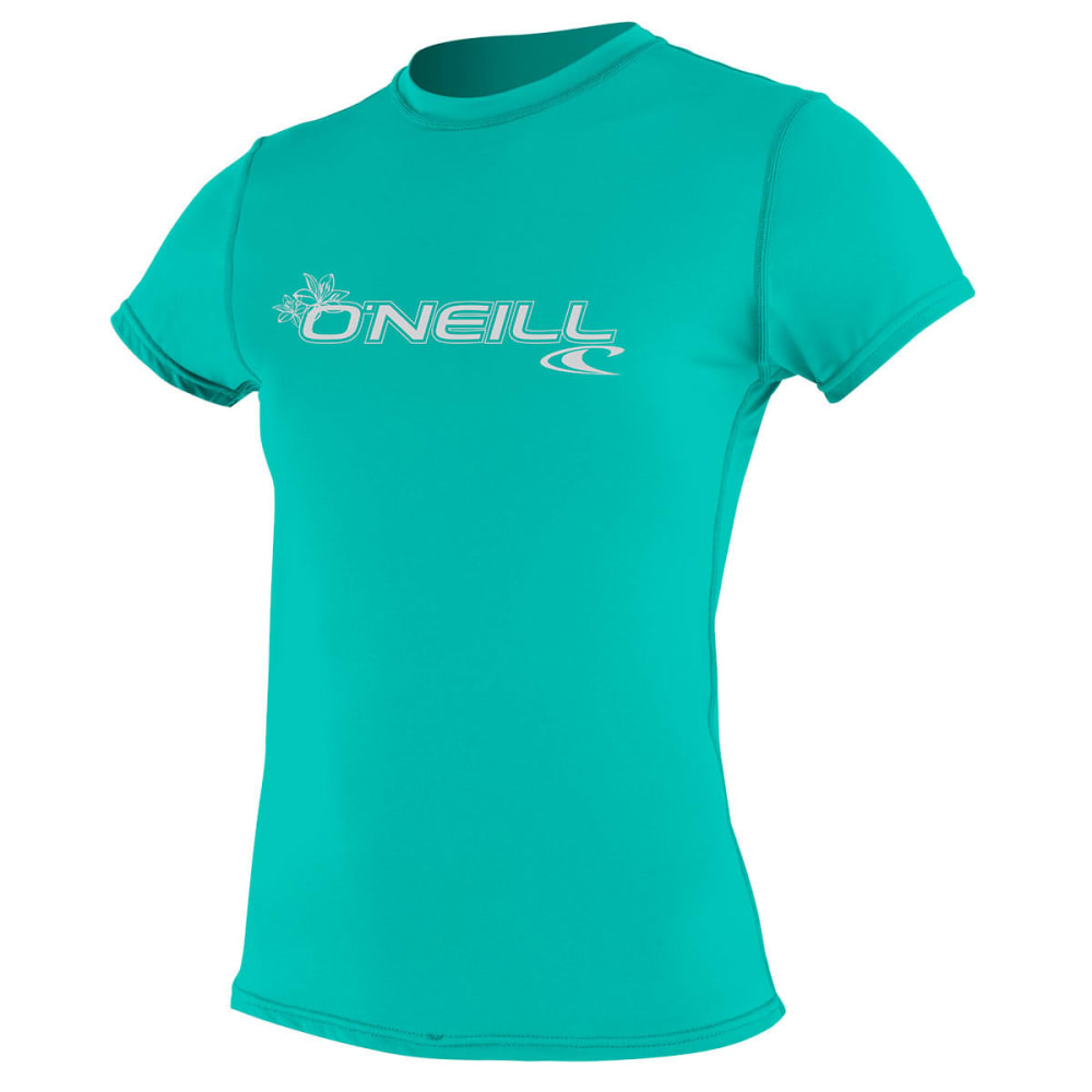 O'NEILL Women's Basic Skins S/S Rash Tee - AQUA BLUE