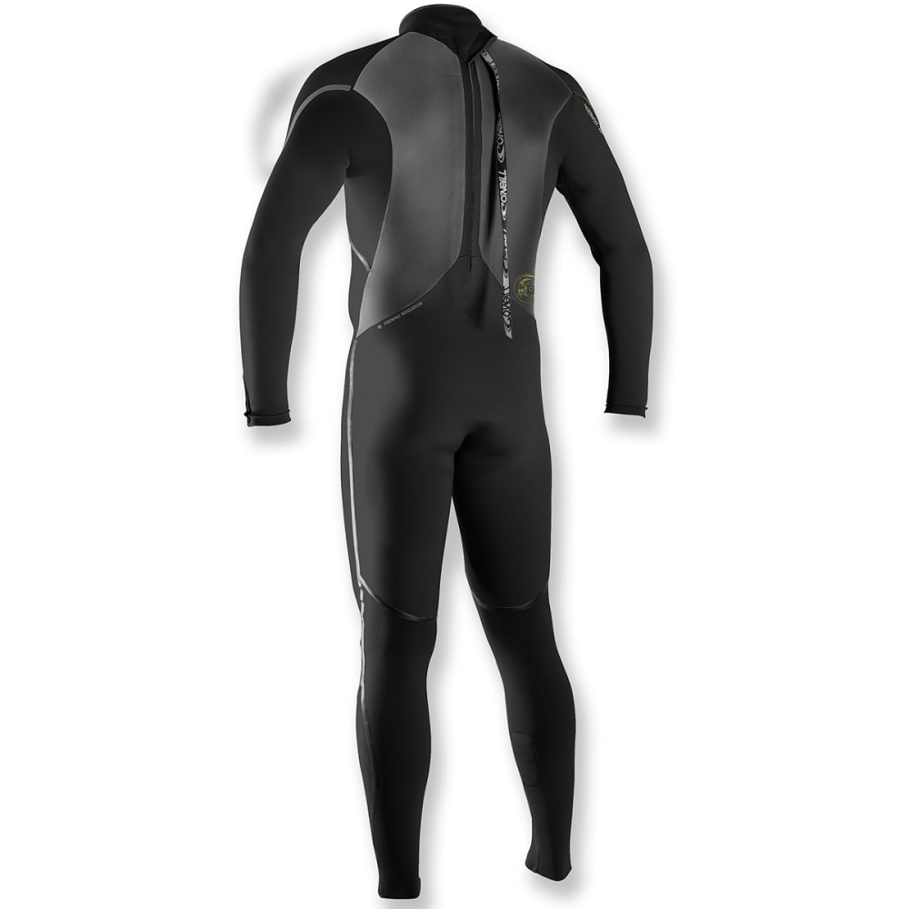 O'NEILL Men's Heat Zip FSW 4/3 Full Wetsuit - BLACK/BLACK